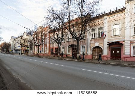 Nizhny Novgorod, Russia - November 04.2015. Maternity hospital number one was built in  19th century