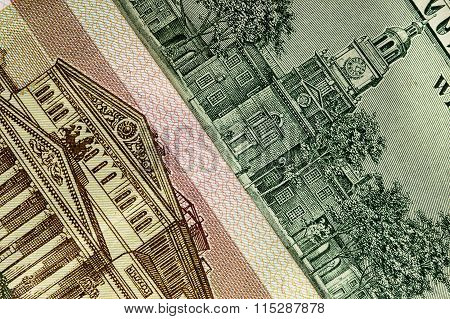 Hundred Rubles And One Hundred Dollars