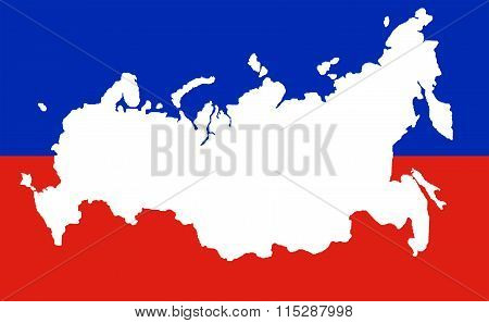 Map Of The Russian Federation With The Crimea