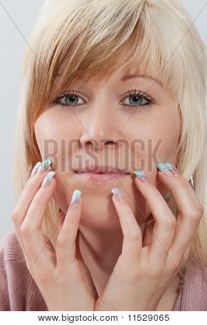Acrylic fingernails