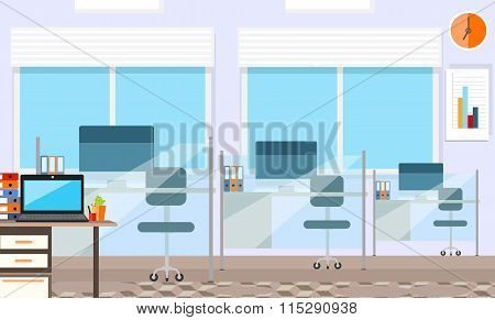Interior office room.Vector illustration for design