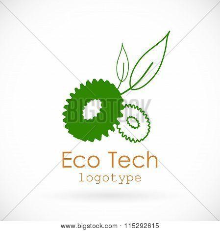 Eco logo, line style