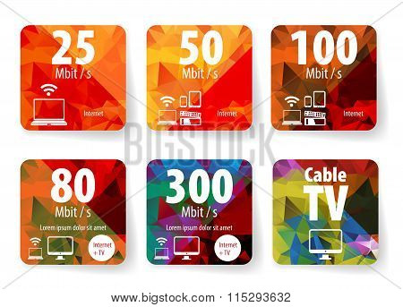 Web internet pricing table design for business. Vector illustrat