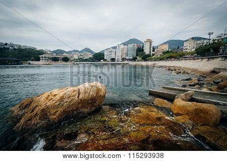 Rocky Coast At Stanley, On Hong Kong Island, Hong Kong.