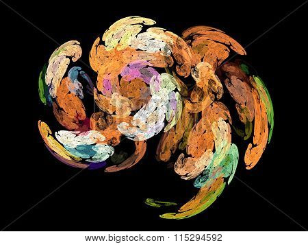 image of one Digital Fractal with multicolor