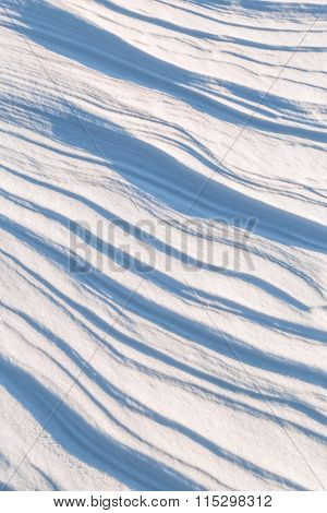 Texture Of The Snow Cover On A Sunny Day