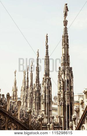 Close Up Photo Of Milan Cathedral (duomo Di Milano), Italy