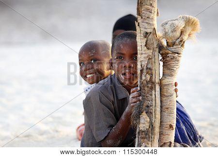 Three African Children
