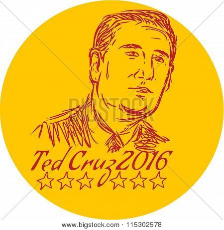 Ted Cruz 2016 Republican Drawing