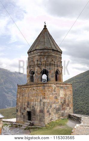 Holy Trinity Church (Tsminda Sameba) near Gergeti village, Georgia