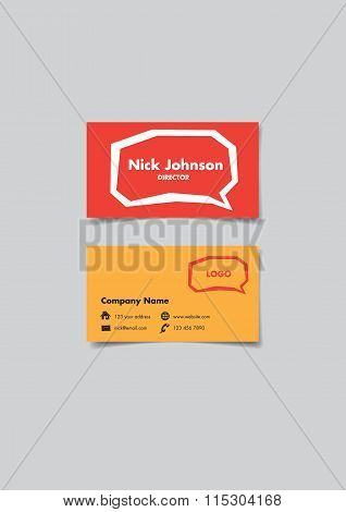 Communication Business Name Card Design