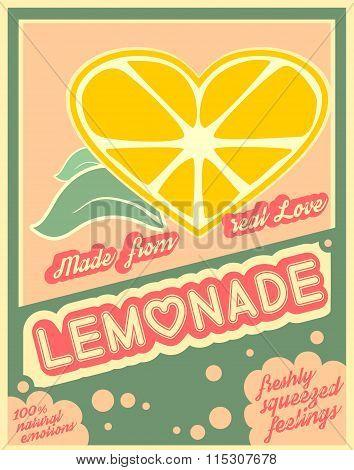 Colorful Vintage Lemonade Label Poster
