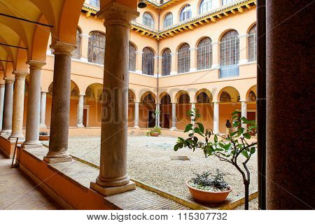 Cloister in San Pietro in Montorio church in Rome, Italy