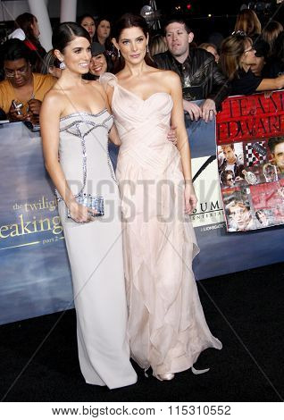 Nikki Reed and Ashley Greene at the Los Angeles Premiere of