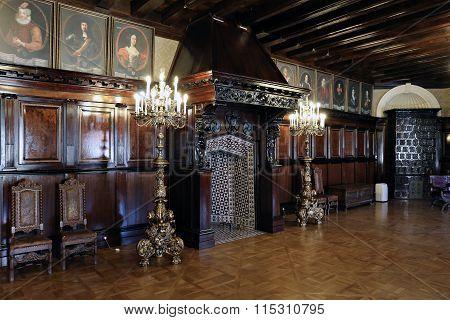 Interior Of Nyasvizh Castle
