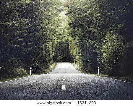 Road Travel Journey Nature Scenic Concept