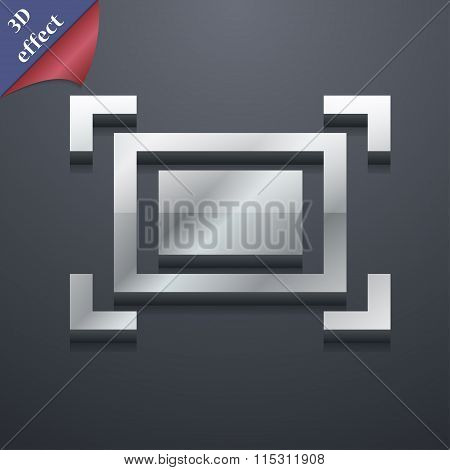 Crops And Registration Marks Icon Symbol. 3D Style. Trendy, Modern Design With Space For Your Text