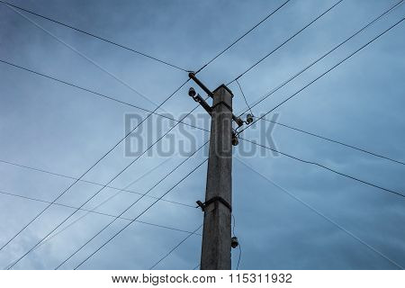 Electric Pole Power Lines