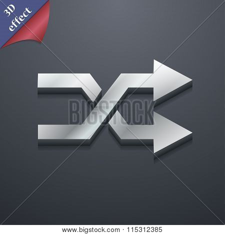 Shuffle Icon Symbol. 3D Style. Trendy, Modern Design With Space For Your Text