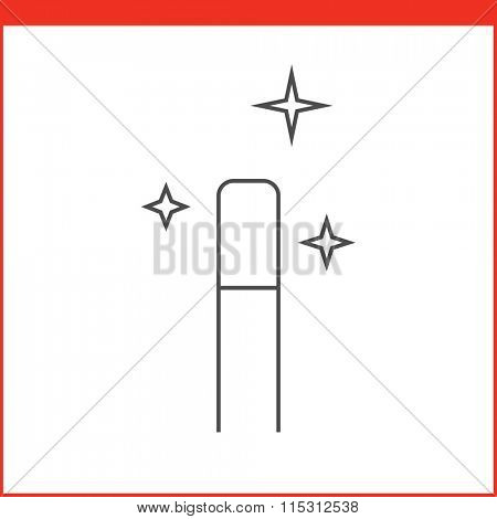 Magic wand tool icon. Vector graphics designer tool. Simple outlined vector icon in linear style
