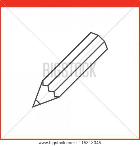 Pencil tool icon. Vector graphics designer tool. Simple outlined vector icon in linear style