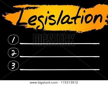 Legislation Blank List