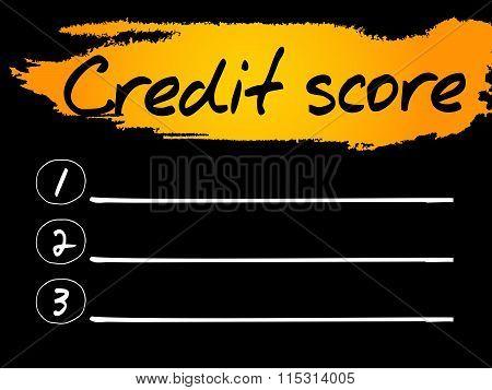 Credit Score Blank List