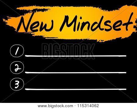New Mindset Blank List