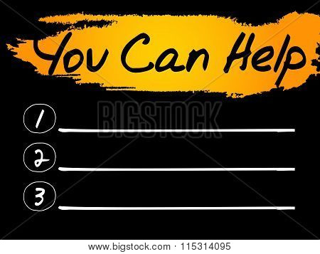 Blank You Can Help List