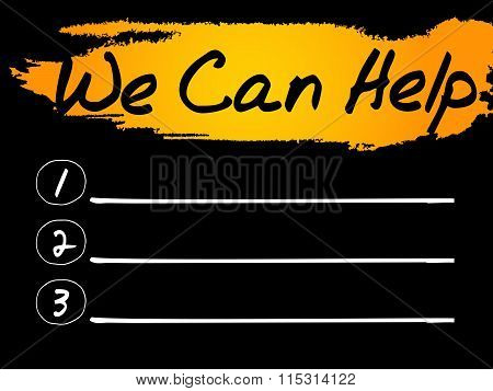 We Can Help Blank List