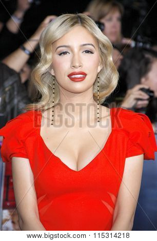 Christian Serratos at the Los Angeles Premiere of