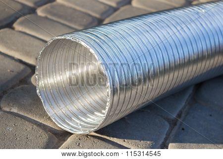 Corrugated Pipe Hole