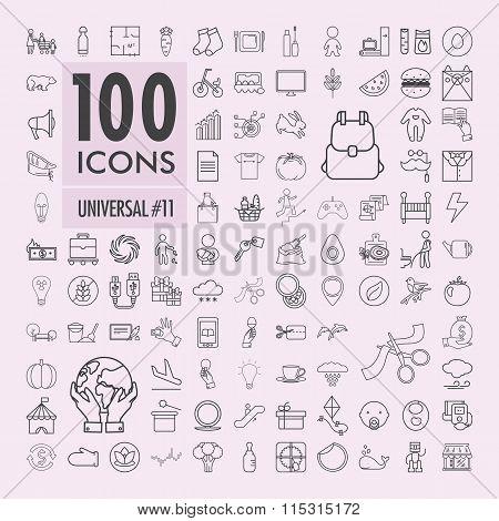 Universal icons set 4