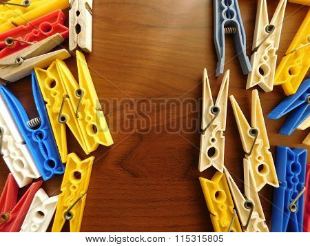 pegs in the kitchen on a wooden base