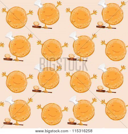 I Love Pancakes. Happy Pancake Day! Seamless Background Pattern.