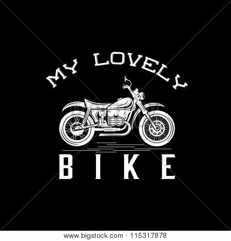 Vintage Motorcycle Graphic Vector Design Template