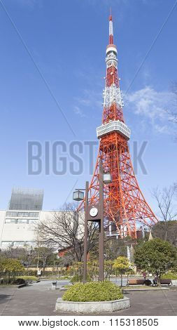 Tokyo Tower And Town Clock