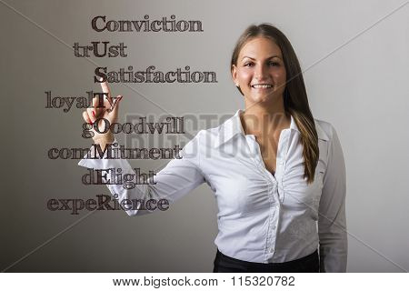 Conviction Trust Satisfaction Loyalty Gooodwill Commitment Delight Experience Customer - Beautiful G