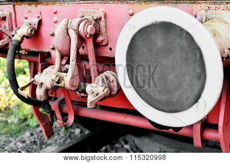 Links Wagon Mechanism Of An Old Steam Train
