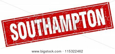 Southampton red square grunge vintage isolated stamp