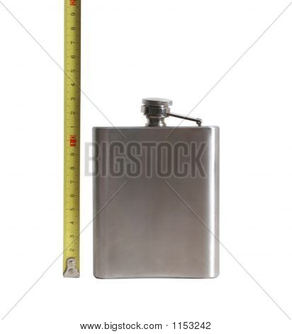 Flask And Measurement Device Isolated On White