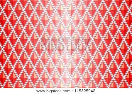 Red Diamond Shaped Quadrangle
