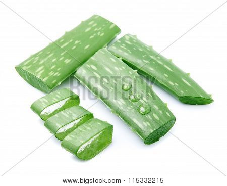 Sliced Aloe Vera Leaves