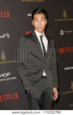 BEVERLY HILLS, CA - JAN. 10: Chris Pang arrives at the Weinstein Company and Netflix 2016 Golden Globes After Party on Sunday, January 10, 2016 at the Beverly Hilton Hotel in Beverly Hills, CA.