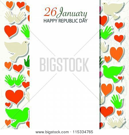 Happy Republic Day (india) Templates For Postcard, Invitation Card, Print