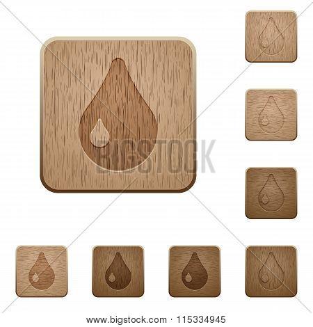 Waterdrop Wooden Buttons