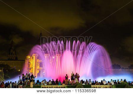 Magic Fountain Light Show In Barcelona