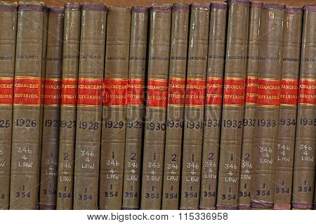 LIVERPOOL UK 16TH JAN 2016  Old Library Law Reports Chancery Division
