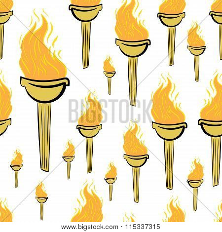 Seamless fiery torch