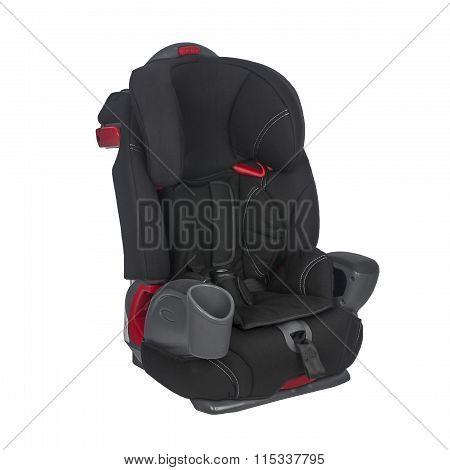 Child car seat on a white backgroun